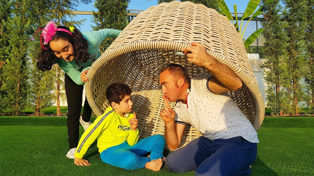Kids and dad Hide and seek
