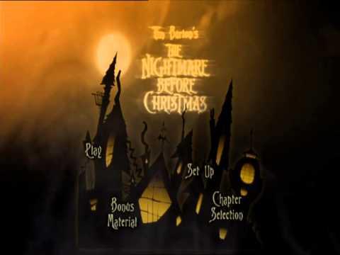 nightmare before christmas special edition uk dvd menu region 2