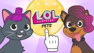 🐶 BABY PETS 🐱 Kira la gata y Max el perro se disfrazan de LOL Pets Surprise #babypets