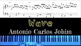 """Wave"" by Antonio Carlos Jobim - Jazz Piano Arrangement with Sheet Music by Jacob Koller видео"