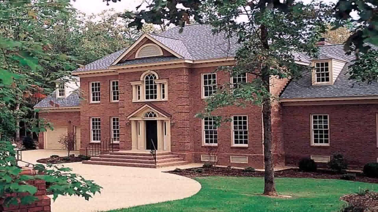 Modern Georgian Style House Plans - YouTube