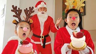 johny johny yes papa with Christmas Santa | Nursery rhymes & Kids song By LoveStar