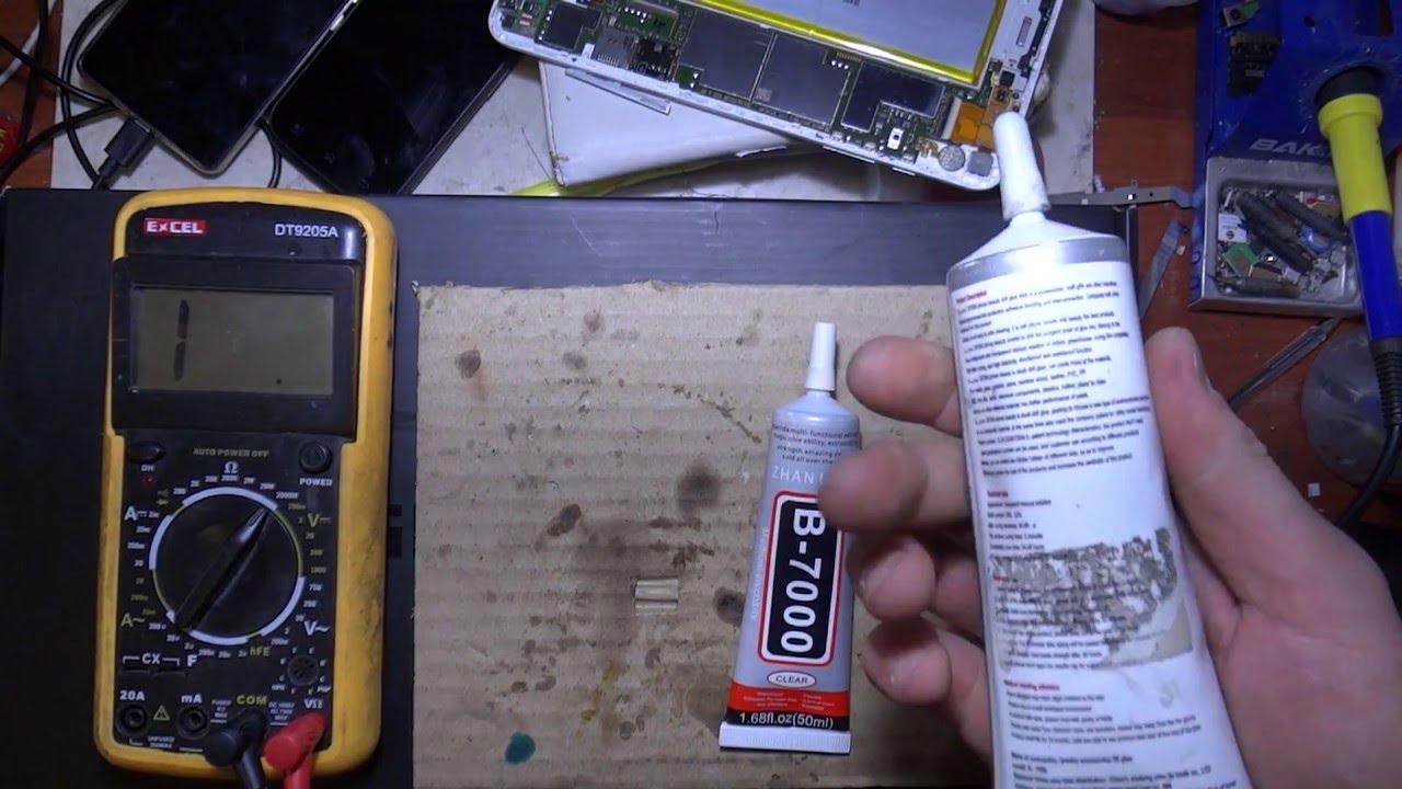Тест клея B7000 на электропроводимость