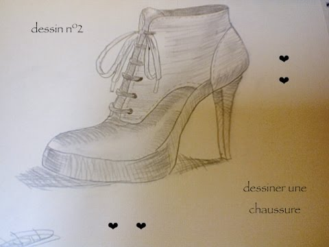 Dessin n 2 dessiner une chaussure youtube - Comment cirer des chaussures ...