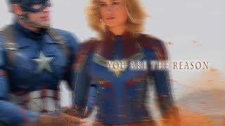 Steve Rogers & Carol Danvers    You are the reason