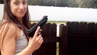 Shoot like a girl version 2 | Beretta M9 BB Gun | Airsoft Pistol Fun