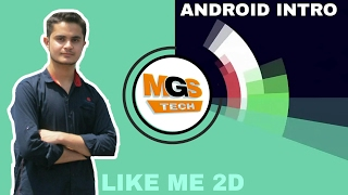 How to make a professional 2d intro with android ! Like me !hindi/urdu