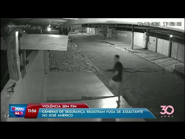 Violência sem fim: câmeras de segurança registram fuga de assaltante no José Américo - O Povo na TV