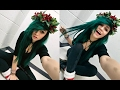 How I Dyed My Hair Forest Green for Christmas! | Kylie The Jellyfish