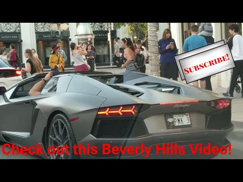 Beverly Hills' Shoppers and Diners captured on Video 😲