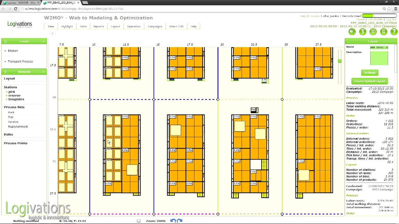 Automatic Creation Of Optimized Warehouse Layouts The