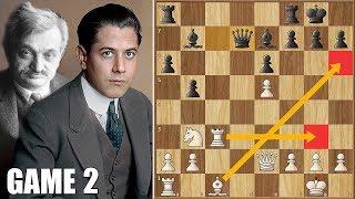 Basic Chess Principles || Lasker vs Capablanca || WCC Game 2 (1921)