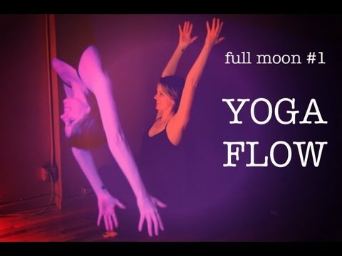20 min Yoga Flow For Balance | Moon Salutation 1 | Full Moon