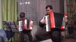 """""""Amerikano"""" Accordion Duo Papa und Sohn"""