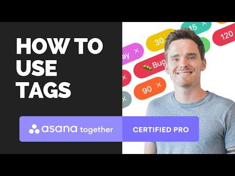 How to use Asana tags