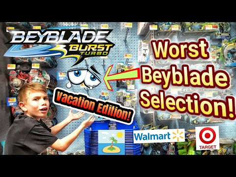 Beyblade Burst Toy Hunt on Vacation at Target and Walmart
