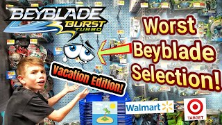 Beyblade Burst Toy Hunt on Vacation at Target and Walmart - MOST EMPTY STORE EVER! - Beyhunting
