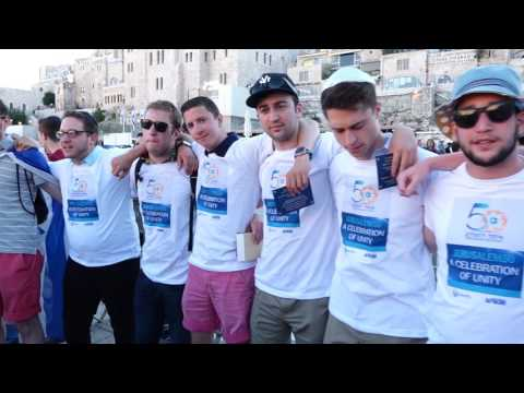 Jewish Students Pledge Allegiance to Jewish Nation at Western Wall