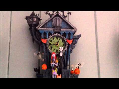 The Nightmare Before Christmas Cuckoo Clock- Demonstration & Review
