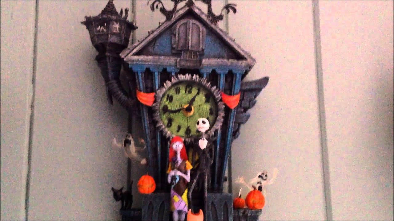 the nightmare before christmas cuckoo clock demonstration review youtube
