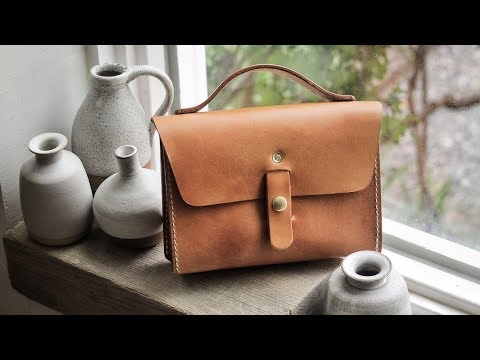 Making a Miniature Leather Purse