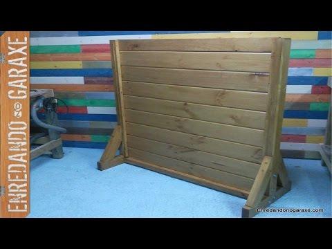 como hacer vallas de madera