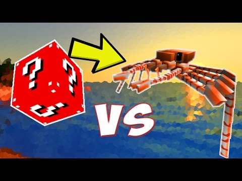 LUCKY BLOCK VERMELHO VS. CARANGUEJOZILLA! (LUCKY BLOCK CHALLENGE MINECRAFT CRABZILLA)