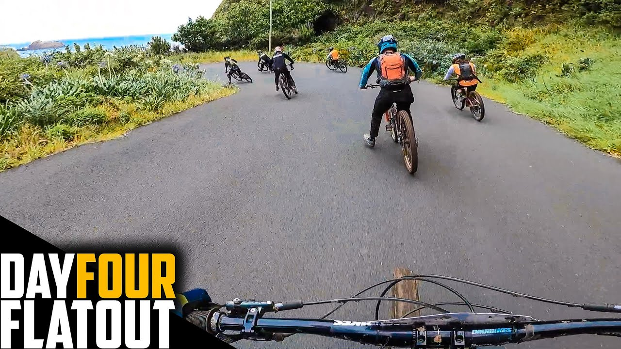 FLAT OUT TIMED RACING THE SICKEST DOWNHILL TRACKS!! TRANS MADEIRA DAY 04