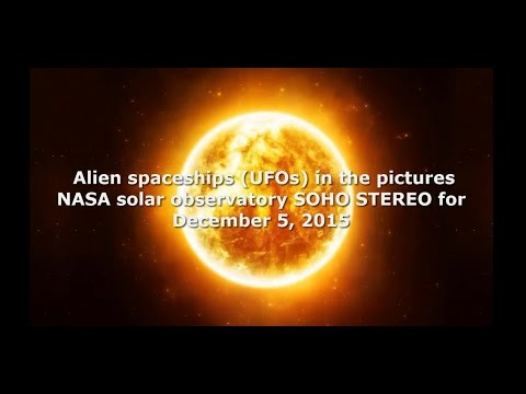 Alien spaceships (UFOs) in the pictures NASA solar observatory SOHO STEREO for December 5, 2015