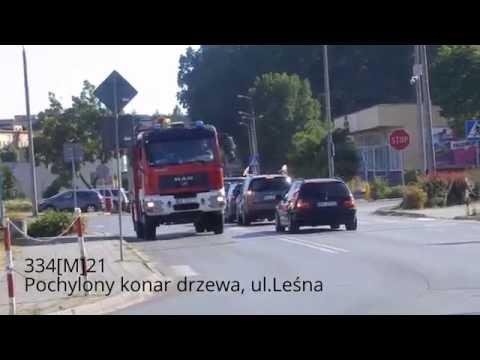 Wichura w Pionkach ! - Przejazdy alarmowe JRG 4 Pionki,OS Pionki,OSP Czarna i Jaroszki !