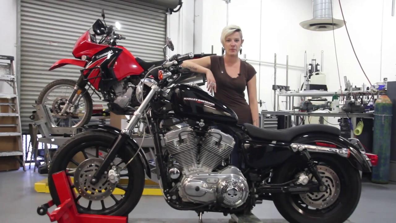 Burly Brand Slammer Kit Install Video with Moto Lady - Deadbeatcustoms com