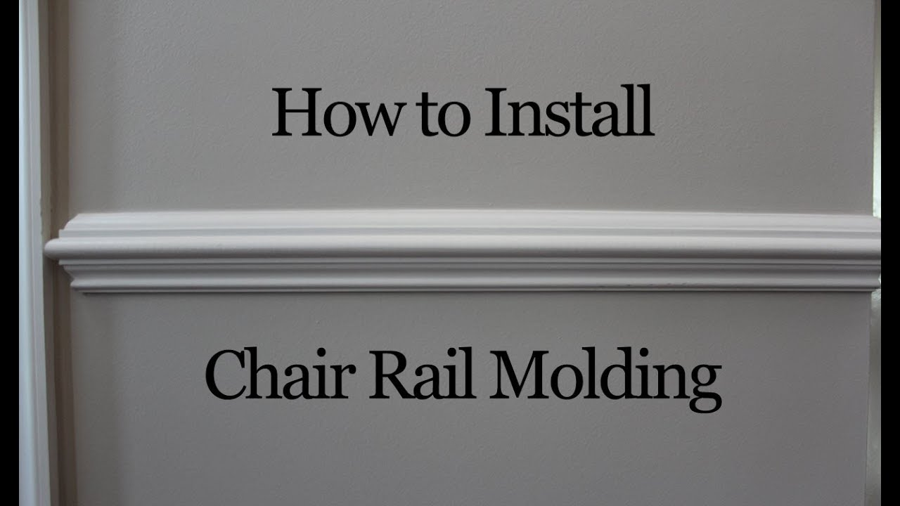 How to Install Chair Rail Molding YouTube