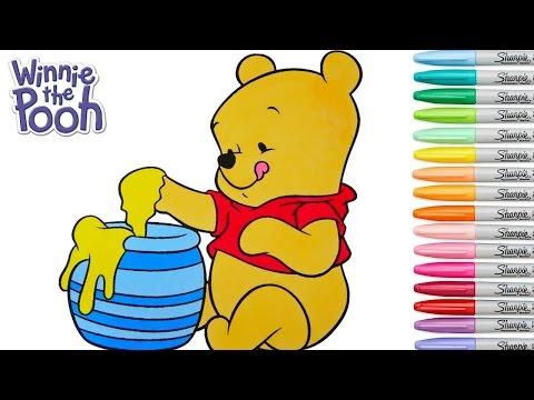 Disney Coloring Book Winnie the Pooh Baby Rainbow Splash