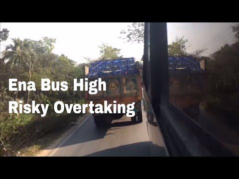 Ena Bus High Risky Overtaking, Dhaka-Sylhet National Highway, Bangladesh by JoomTube