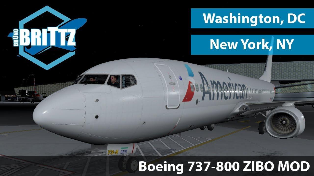[XP11] New York - Washington | Boeing 737-800 Zibo RG mod