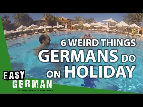 Easy German 186 - 6 weird things Germans do on holiday