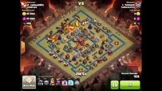 Clash Of Clans - Clan War How to 2 Stars TH10 Maxed out base with Drakes