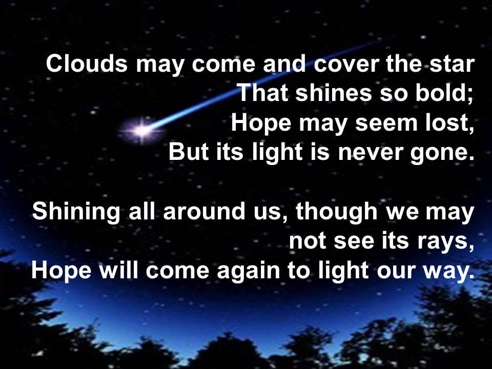 Hope is a Hidden Star - Choir Practice Lyrics and Music ...