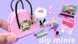 DIY My Little Pony Miniatures - Zippered Purse, Beauty Products, & More