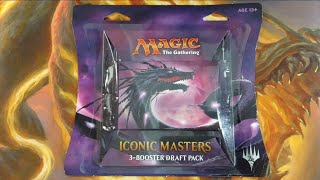 walmart mtg iconic masters 3 booster draft pack