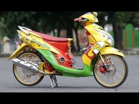 Modifikasi Mio Kuning Emas Modif Motor Terbaru 2019