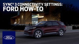 homepage tile video photo for SYNC® 3 Connectivity Settings   Ford How-To   Ford