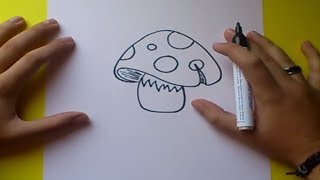Como dibujar una seta paso a paso 2 | How to draw a mushroom 2