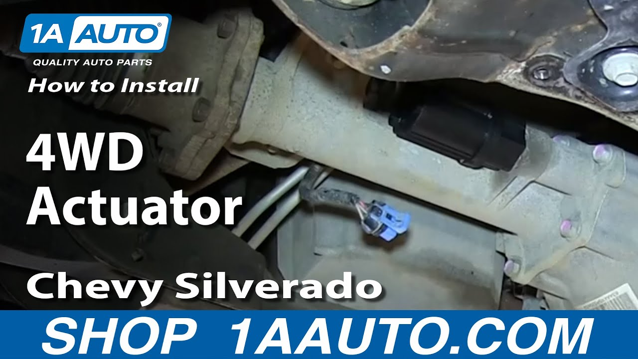 hight resolution of how to install replace front axle actuator 2007 2013 chevy silverado gmc sierra