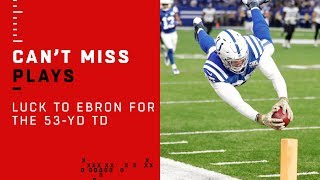 Luck to Ebron for a 53-Yd Catch & Run TD to Take the Quick Lead