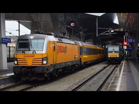 Trains RGJ REGIOJET in Wien Hbf (A) - 13.2.2018