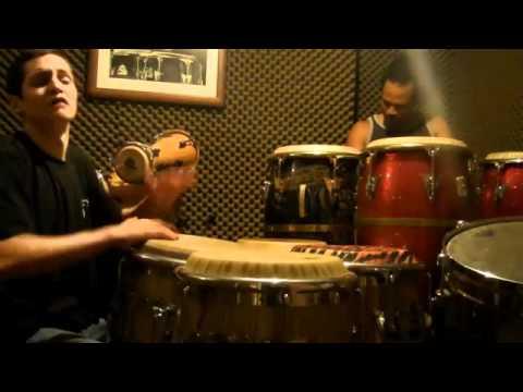 Puerto Rico Percusionistas, Daniel Diaz y Paoli Mejias conga rredoblando parte 3 de 3