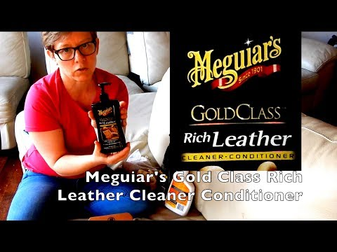Clean And Protect Leather Sofa Couch With Meguiar's Gold Class Rich Leather Cleaner Conditioner