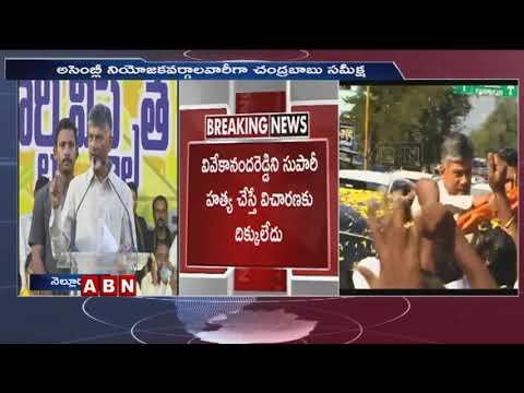 Chandrababu Naidu Speech Over Assembly Constituencies | Nellore | ABN Telugu
