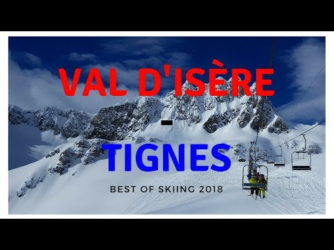 Best skiing 2018 (Val d'Isere - Tignes, France)